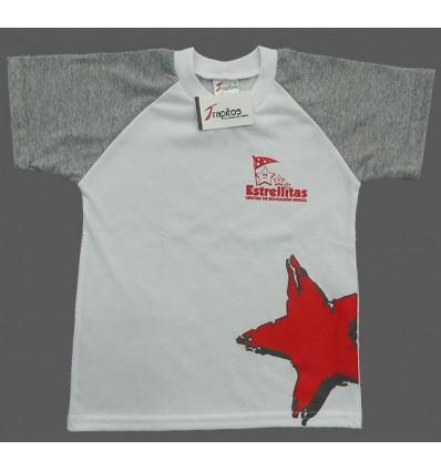 Camiseta bLanca Estrellitas